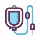 bag, blood, drip, healthy, infusion, medical, transfusion icon