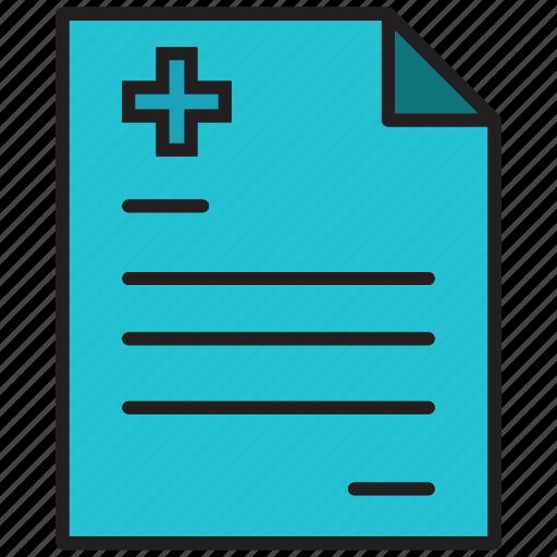 formula, health, hospital, letter, medical, prescription, recipe icon