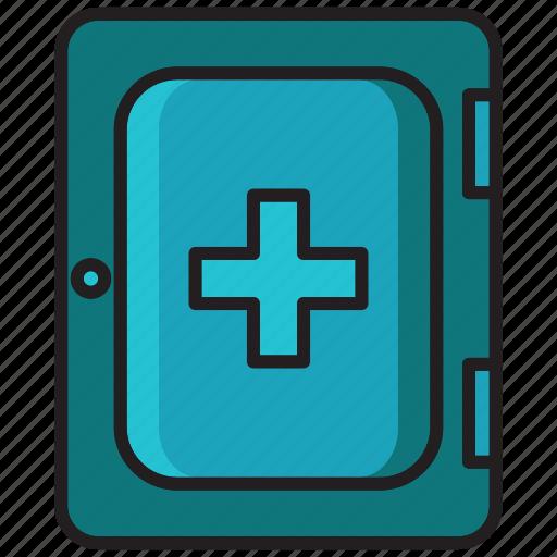 box, box treatment, health, hospital, medical, p3k, unjure icon