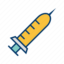 infection, injecting, injection, medical, patient, treatment icon