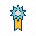 achievement, award, medal, prize, reward, ribbon, winner icon
