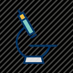 experiment, microscope, research icon