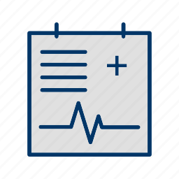 medical chart, medical document, medical file, medical report icon