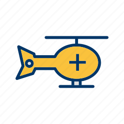 ambulance, emergency helicopter, helicopter, hospital helicopter icon