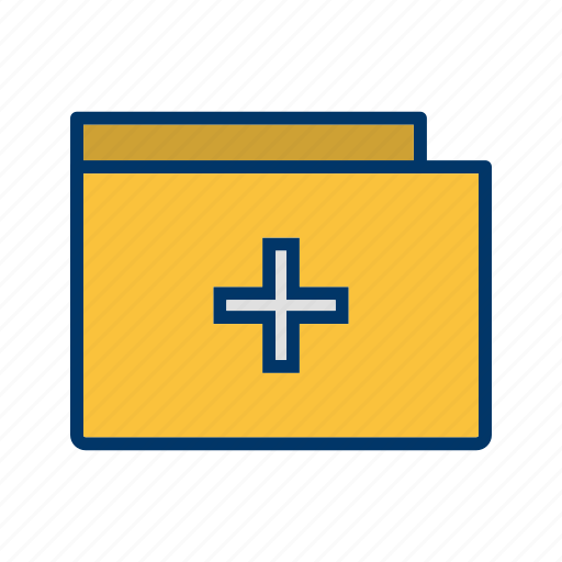 document, file, folder, health, hospital, medical, square icon