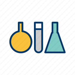 chemistry, experiment, flask, lab, science, test, tubes icon