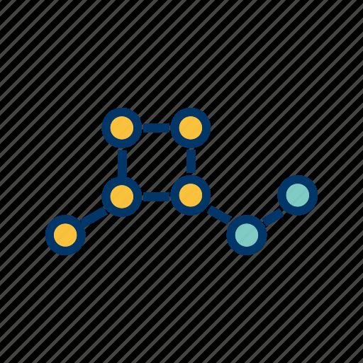 atoms, molecular, molecules, structure icon
