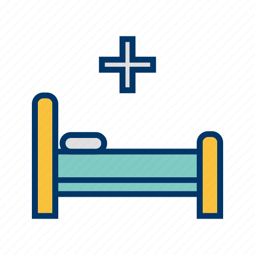 bed, hospital, hospital bed, treatment icon