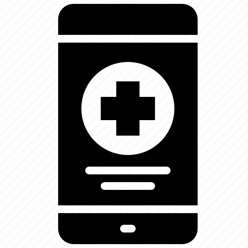 app, emergency, health, hospital, medical, mobile, phone icon