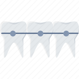 braces, care, dental, dentistry, medical, stomatology, teeth icon