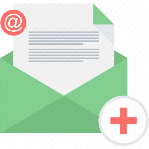 email, envelope, letter, mail, medical, message, report icon