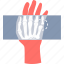 dicom, hand, health, healthcare, medical, x-ray, xray icon
