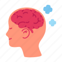 brain, healthcare, mental, positive, psychotherapy, thinking, treatment icon