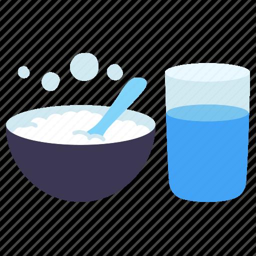 food, glass, healthcare, hospital, medical, porridge rice, water icon