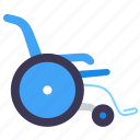 disabled, hospital, illness, medical, patient, treatment, wheelchair icon