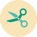 cut, hair dresser, hairdresser, medical, scissors, tailor icon