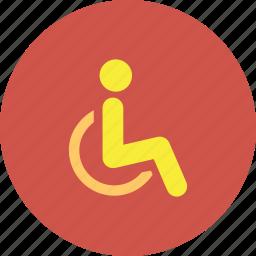 disabled, emergency, handicap, injury, medical, parking, wheelchair icon