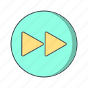 arrows, forward, media player, next icon