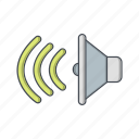 audio, loud speaker, sound, speaker icon
