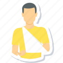 arm, bandage, bone, fracture, injury, medical, plaster icon