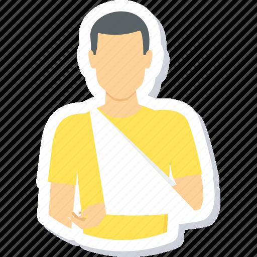 arm, bandage, bone, fracture, injury, medical, plaster icon