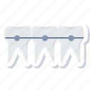 braces, dental, dentistry, stomatology, teeth icon