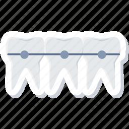 braces, dental, dentistry, stomatology, teeth icon