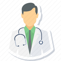doctor, expert, male, medical, practitioner, stethoscope icon