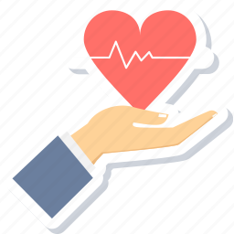gesture, give, hand, healthcare, heart, love, medical icon
