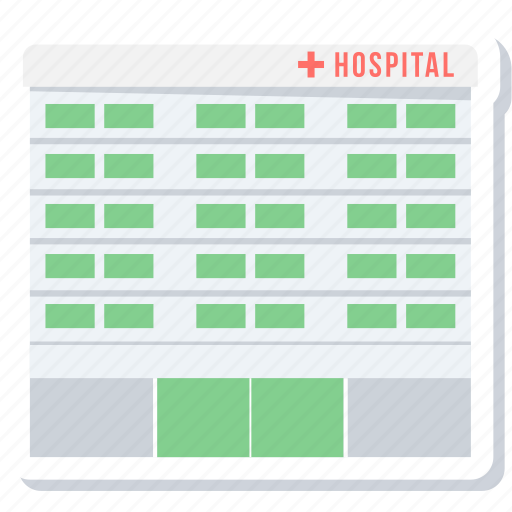 building, clinic, healthcare, hospital, hospital building, medical, medical center icon