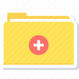 book, document, file, folder, medical, record, report icon