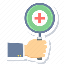 health, healthcare, hospital, medical, search icon
