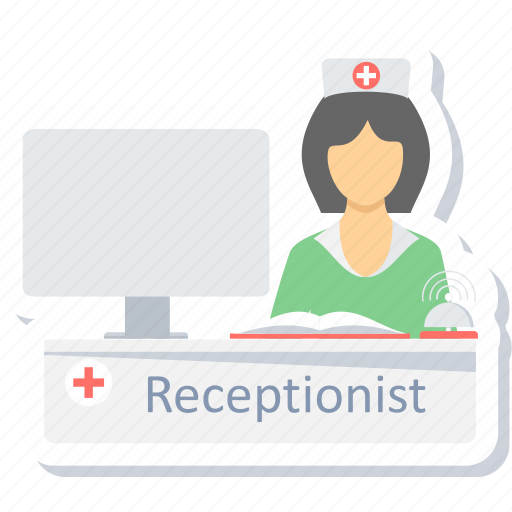 care, help, hospital, information, receptionist, service, support icon