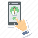 assistance, call, call doctor, contact, doctor, doctor assistance, mobile icon