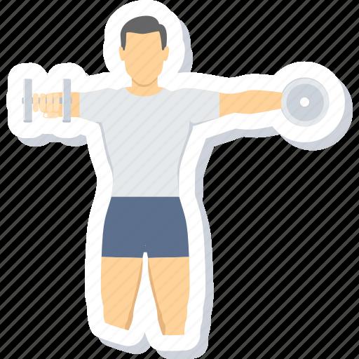 bodybuilding, exercise, fitness, gym icon
