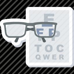 eye, eyetest, medical, medical test, test, vision icon