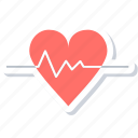 beat, ecg, heart, heart lines, heart rate, pulsation, pulse icon