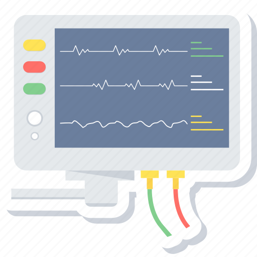 electronics, healthcare, lines, medical, medical electronics, medical monitor, monitor icon