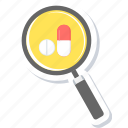 healthcare, medical, medicine, search icon