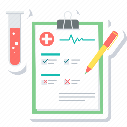 analysis, clipboard, diagnosis, document, medical, report, sample test icon