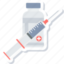 injecting, injection, medical, syringe, treatment, vaccination, vaccine icon