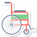 armchair, chair, disable, disabled, handicap, patient, wheelchair icon