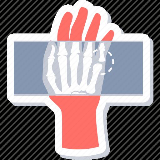 bones, hand, rays, skeleton, xray icon