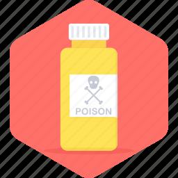 danger, dangerous, medicine, poison, warning icon