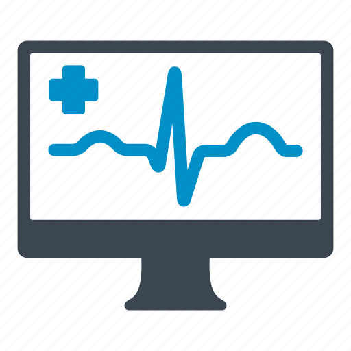 cardiogram, computer, health care, heart, hospital, medical icon