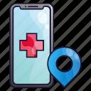 app, clinic, health, healthcare, hospital, medic, medical icon