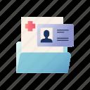 diagnosis, document, folder, history, medical, record icon