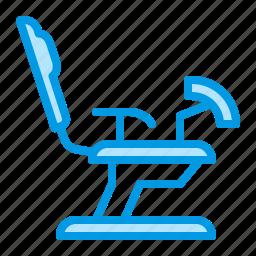 chair, gynecology, medical, pregnancy icon