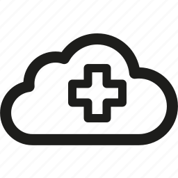 cloud, data, health, healthy, medical, server, storage icon