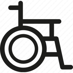 chair, disability, disable, disabled, handicap, patient, wheelchair icon